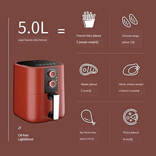 Conception facile à nettoyer friteuse à air domestique 5L four électrique multifonctionnel frites sans huile 220V