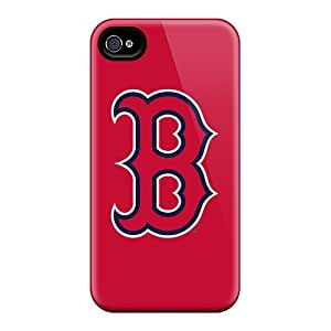 Shock-dirt Proof Baseball Boston Red Sox 5 Case Cover For Iphone 4/4s