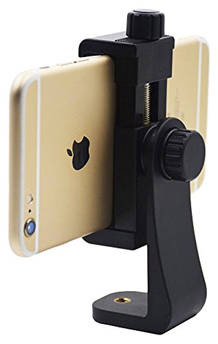 Aoonar ll078 Universal Smartphone Adapter, Holder Mount for IPhone/Samsung Galaxy/Google Nexus, Use on 1/4-20 Tripod, Monopod, Selfie Stick