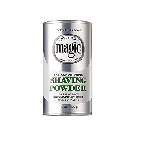 MAGIC SHAVE POWDER PLATINUM Size: 4.5 OZ - Magic Shave Shaving Powder