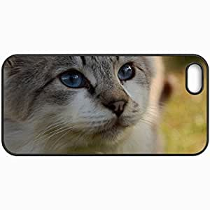 Customized Cellphone Case Back Cover For iPhone 6 4.7, Protective Hardshell Case Personalized Cat Black