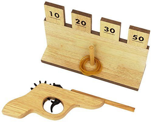 (Toysmith Rubber Band Shooter with Wooden Targets)