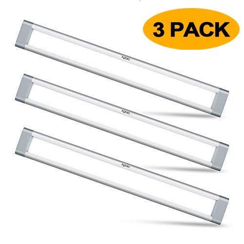 Aglaia Under Cabinet Lighting, LED Closet Light 9W 6000K Dimmable Under Cupboard Light LED for Cabinet, Shelf Locker, Wardrobe, Kitchen(3 Pack)