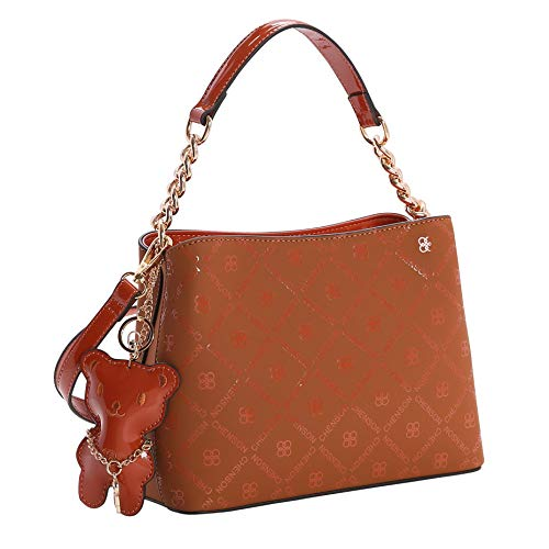 Bolsa Transversal Feminina Chenson 3483036 Marrom