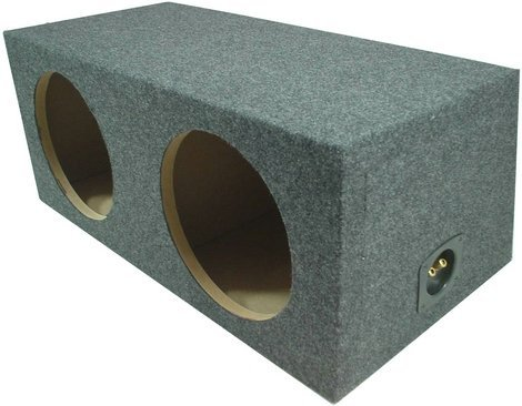 Car Audio Dual 10″ Sealed Subwoofer Rear Angle Sub Box Enclosure 3/4″ MDF Wood