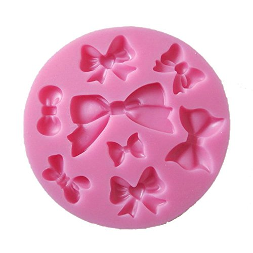 Allforhome(TM) 8 cavity Mini Bows Silicone Mould Fondant Sugar Bow Craft Molds DIY Cake Decorating