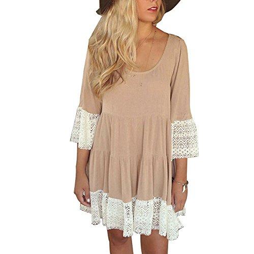 khaki lace dress - 7