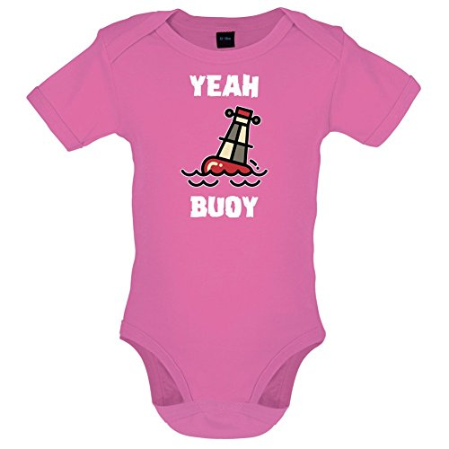 (Dressdown Yeah Buoy Cartoon - Babygrow - Bubble Gum Pink - 0-3M)