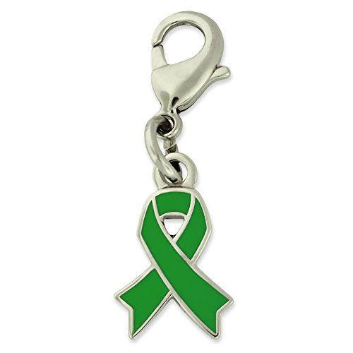 - PinMart's Green Awareness Ribbon Enamel Charm