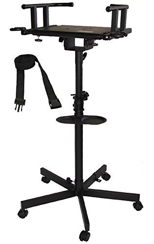 Audio2000'S AST4202 Karaoke TV Monitor Stand with Wheels