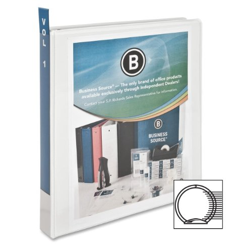 Business Source 1-Inch Standard Presentation Binder - White (09981) ()