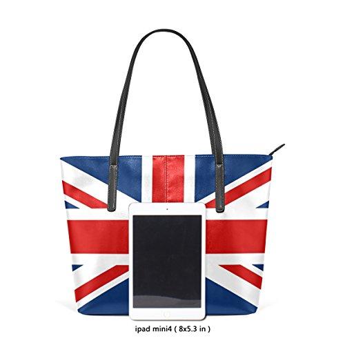 COOSUN UK British Flag PU Leder Schultertasche Handtasche und Handtaschen Tasche für Frauen