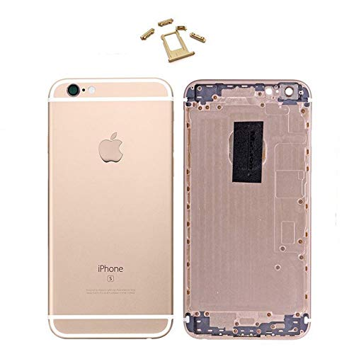 E&B Metal Back Housing Cover Replacement for iPhone 6S (Rose Gold) by E&B