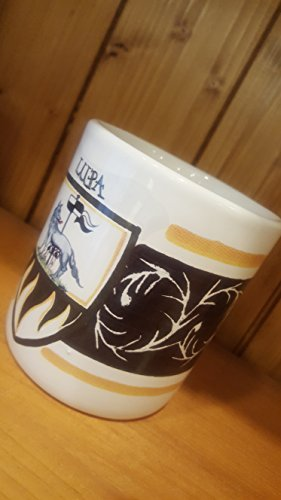 She Wolf Mug. Mug with the typical decoration of the Contrade of the Palio di Siena. Lupa. - Caterpillar Mug