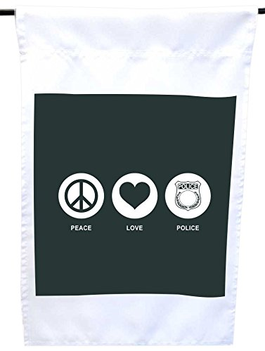 Rikki Knight Peace Love Police Green Color House or Garde...