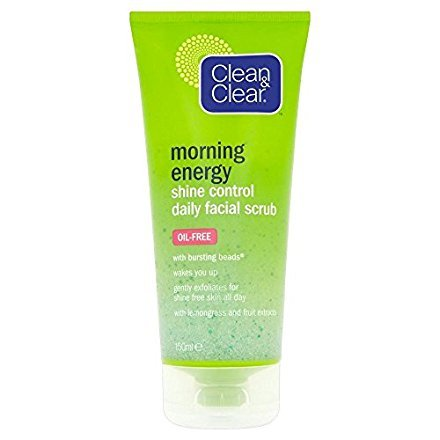 Clean & Clear Morning Energy Shine Control Facial Scrub (150ml) - Pack of 2