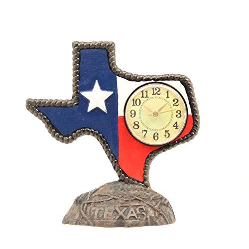 Western Moments Texas Cast Iron Desk Clock