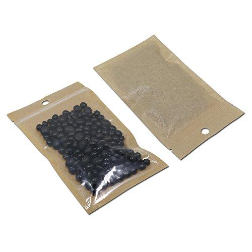 Flour Paper Mache - Clear Front Zipper Kraft Paper Food