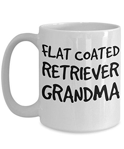 Flat Coated Retriever Grandma Mug - White 11oz Ceramic Tea Coffee Cup - Perfect For Travel And ()