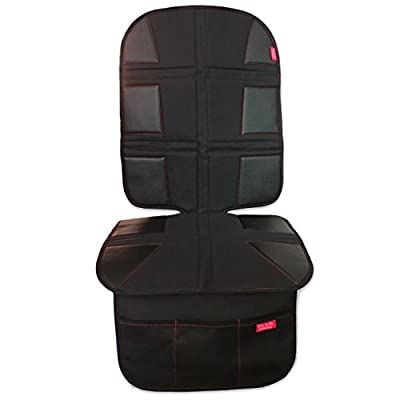 ROYAL OXFORD Luxury Car Seat Protector - Extreme Durability, Obsidian Black Leather, Large