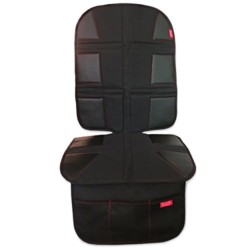 ROYAL OXFORD Luxury Car Seat Protector – Extreme Durability, Obsidian Black Leather, Large