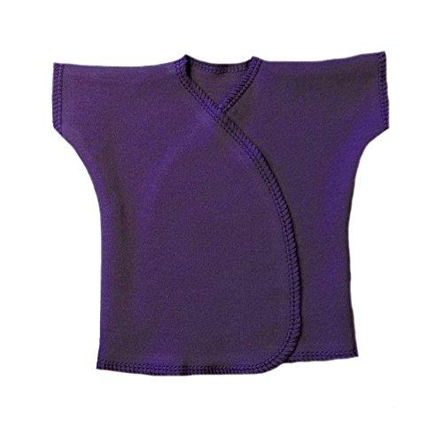 Jacqui's Unisex Baby Purple Short Sleeve Kimono T-Shirt, Preemie