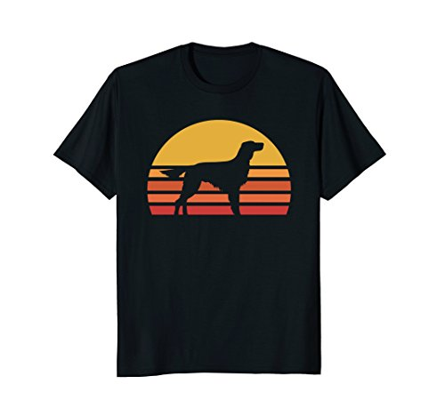 Retro Sun Irish Setter Silhouette T-shirt For Dog Lovers