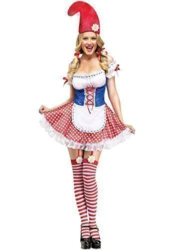 Ladies Sexy Garden Gnome Snow White Dwarf + Stockings Fancy Dress Costume Outfit (UK 14-16) for $<!--$52.52-->