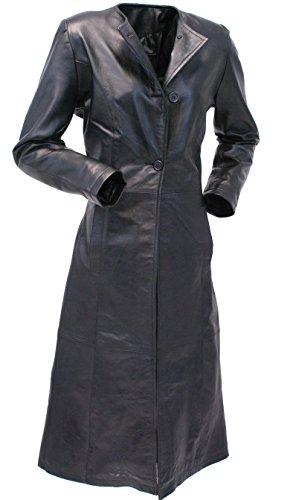 Lambskin Trench Coat (Jamin' Leather Extra Long Lambskin Leather Trench Coat for Women (S))