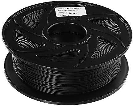 LWQJP ブラックカーボンファイバーフィラメント1KG / 3Dプリンタ3D印刷材料のためのロール1.75ミリメートル