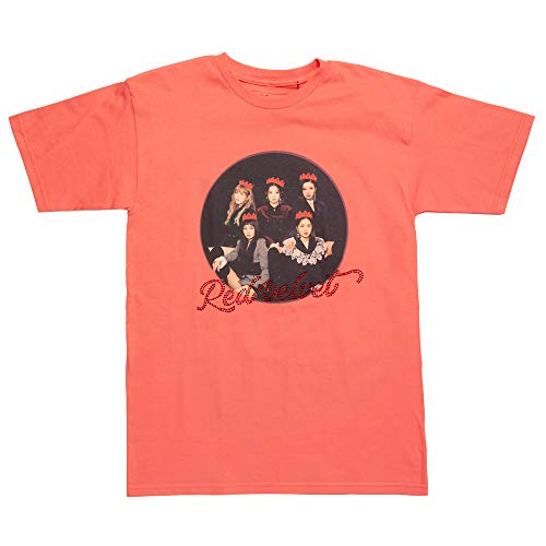 Red Velvet Group Photo T-Shirt with Rhinestones - Pink (Medium)
