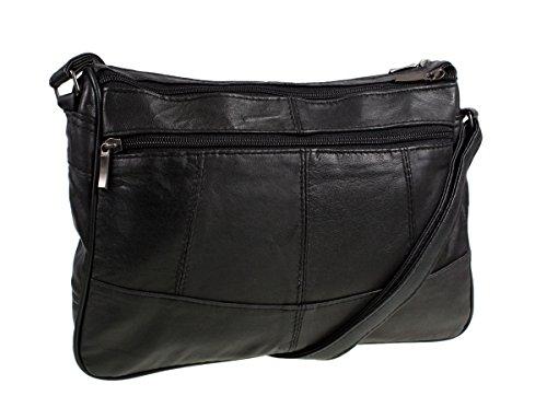 Lorenz Leather Handbag # 1968 - Black - cross-body-bags, more-bags