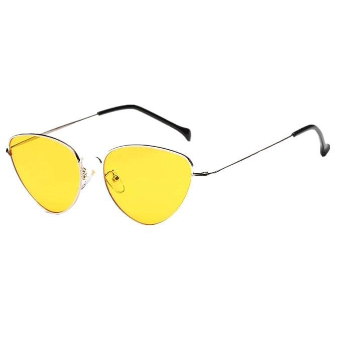 Damen Sonnenbrille Katzenaugen Große Rahmen Vintage UV 400 Retro Sommer Brille