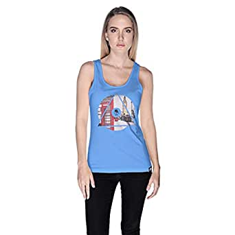 Creo London Underground Tank Top For Women - S, Blue