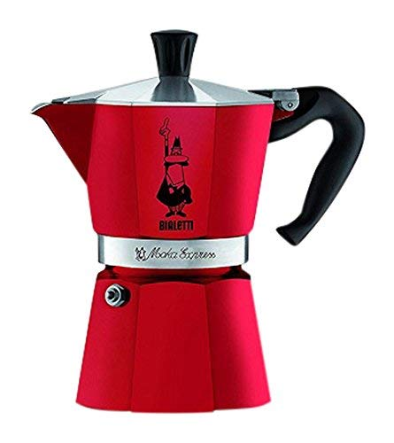 Bialetti Moka Express 3 Cup Espresso Maker (Passion Red, 3-Cup)