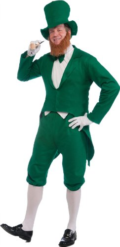 Forum Novelties Men's Adult Leprechaun Costume, Green/White, One Size