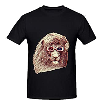 3d lion mens crew neck custom shirts clothing for Amazon custom t shirts