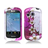 Aimo Wireless PNP6020PCIMT064 Hard Snap-On Image Case for Pantech Swift P6020 - Retail Packaging - Hot Pink/Flowers and Butterfly