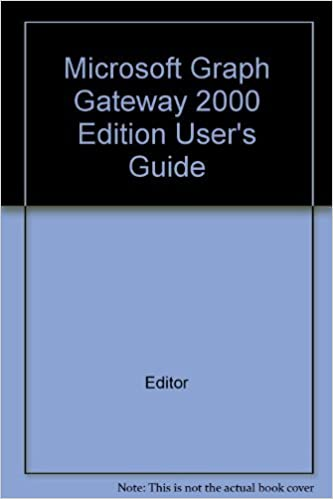 Microsoft Graph Gateway 2000 Edition User's Guide: Editor