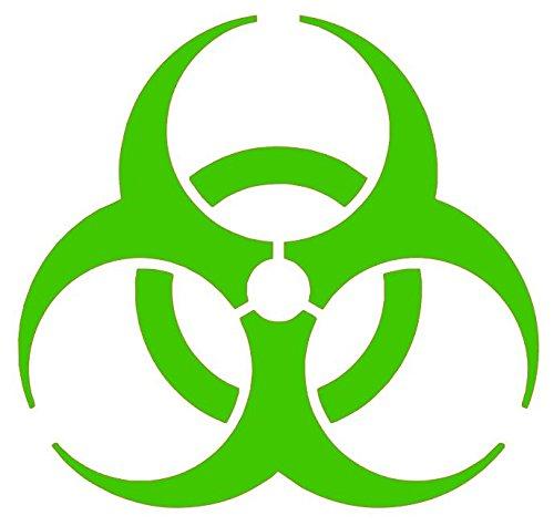 BioHazard Symbol Decal, BioHazard Sticker, Zombie Decal, Biological Waste Warning