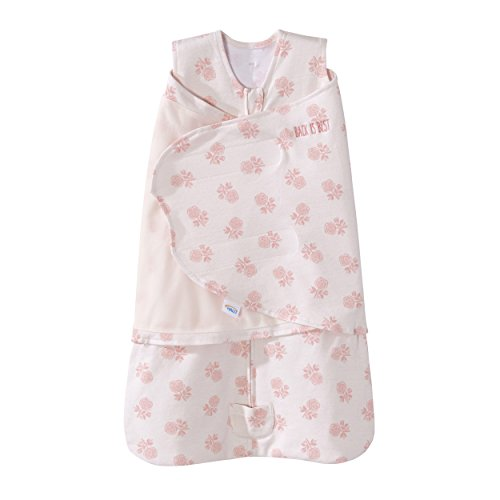 - Halo Sleepsack Swaddle Cotton Watercolor Rose Toss Blush, Size NB