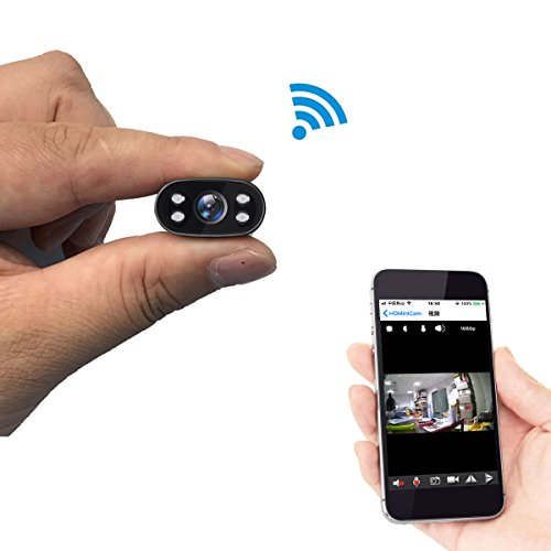 PNZEO-WI-Mini-Camera-1080P-HD-infrared-night-vision-camera-wireless-WiFi-surveillance-camera-for-iPhone-Android-phone-iPad-PC-Remote-view-Motion-detecting-Supports-128GB-Micro-SD-Card
