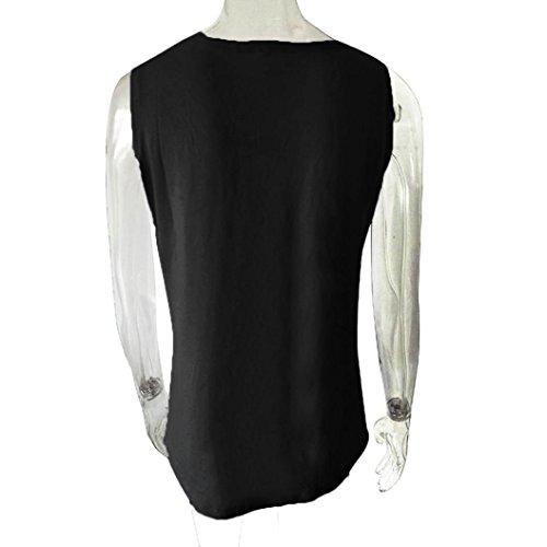 Winwintom Mujeres De AlgodóN De Maternidad De EnfermeríA Blusa De Lactancia Camiseta Sin Mangas Embarazada O-Cuello Camisa SóLida Casual Negro