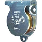 "National Hardware 3219BC 2"" Zinc Plated Wall/Ceiling Mount Single Pulley"