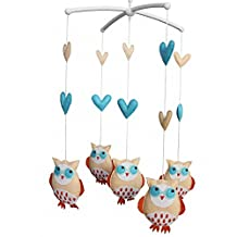Baby Bed Hanging Bell Mobile Cartoon Owls Musical Crib Mobile