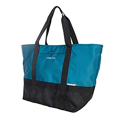 CGear Sand Free Tote II - Sand, Dirt, and Dust Free Tote - Perfect Bag For The Beach, Park, or Picnic - A Vacation Necessity! Removes Sand and Dirt Particles Effortlessly - Military Grade Technology - Easy Clean and Quick Dry