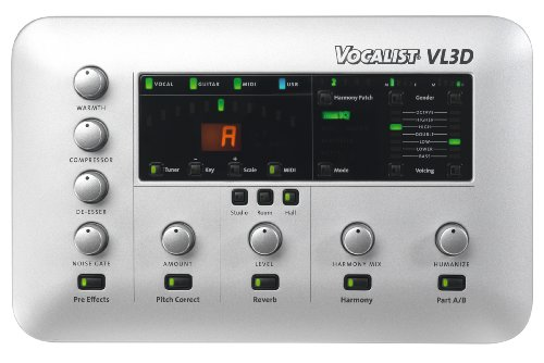 DigiTech Vocalist Live 3-D Vocal-Harmony Effects Processor for Keyboard with MIDI
