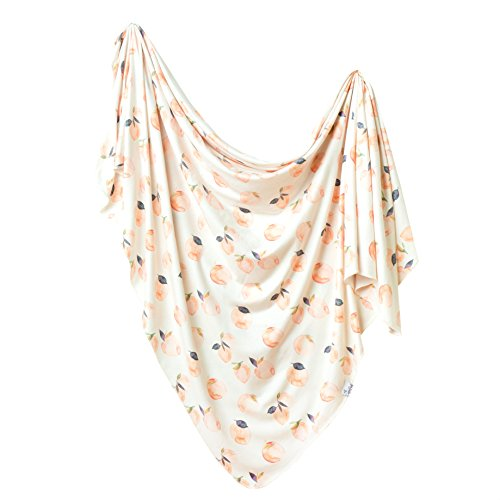 """Large Premium Knit Baby Swaddle Receiving Blanket""""Caroline"""" by Copper Pearl"""