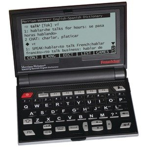 New Franklin Bes-2100 Speaking Merriam-Webster Spanish/English Electronic Dictionary Lcd Monochrome
