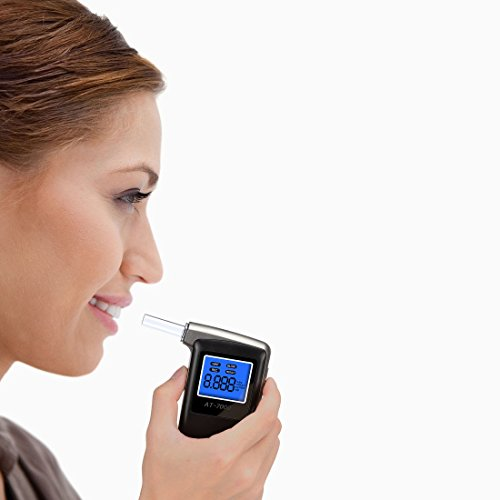 EEK-Brand Breathalyzer Professional Portable Breath Digital Display Alcohol Tester with 6 Units Modes and Extra 10 Mouthpieces by EEK-Brand (Image #4)